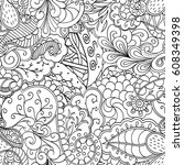 tracery seamless pattern.... | Shutterstock .eps vector #608349398