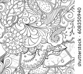 tracery seamless pattern.... | Shutterstock .eps vector #608350940