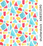 seamless mosaic pattern with... | Shutterstock .eps vector #608351090