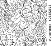 tracery seamless pattern.... | Shutterstock .eps vector #608352518
