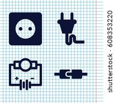 set of 4 outlet filled icons... | Shutterstock .eps vector #608353220