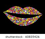 lips of flowers.vector illustration