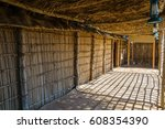 a wooden hut situated inside of ... | Shutterstock . vector #608354390