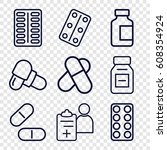 prescription icons set. set of... | Shutterstock .eps vector #608354924