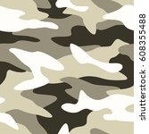 camouflage pattern background... | Shutterstock .eps vector #608355488