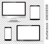 modern technology device | Shutterstock .eps vector #608358500