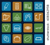 element icons set. set of 16...   Shutterstock .eps vector #608362958