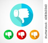 set of colored thumb down icons.... | Shutterstock .eps vector #608363360