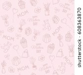 happy mother's day doodle... | Shutterstock .eps vector #608363870