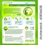 green eco website template   Shutterstock .eps vector #60836638
