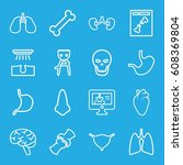 anatomy icons set. set of 16... | Shutterstock .eps vector #608369804