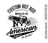 vintage hot rod old grunge... | Shutterstock .eps vector #608370218