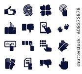 finger icons set. set of 16... | Shutterstock .eps vector #608373878