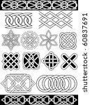 set   vector celtic patterns | Shutterstock .eps vector #60837691