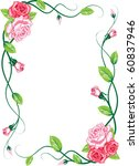 greeting floral rose card vector | Shutterstock .eps vector #60837946