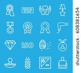 quality icons set. set of 16...