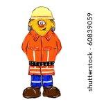 painted german firefighter on...   Shutterstock . vector #60839059
