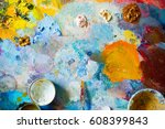 background image of bright oil... | Shutterstock . vector #608399843