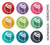 illustration icon for bandaged... | Shutterstock .eps vector #608402990