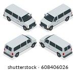 commercial van icons set...   Shutterstock .eps vector #608406026