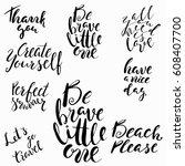 conceptual hand drawn phrase... | Shutterstock .eps vector #608407700