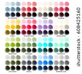 color guide with color names | Shutterstock .eps vector #608425160