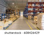 interior of warehouse   Shutterstock . vector #608426429