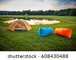 air couch camping | Shutterstock . vector #608430488