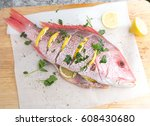 Raw Whole Red Snapper With...