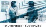 virtualization business... | Shutterstock . vector #608454269