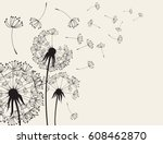 abstract dandelions dandelion... | Shutterstock .eps vector #608462870
