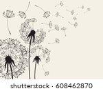 abstract dandelions dandelion... | Shutterstock .eps vector #608462870