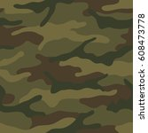seamless camouflage pattern.... | Shutterstock .eps vector #608473778