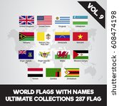world flags. ultimate... | Shutterstock .eps vector #608474198