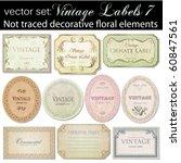 Vector Set  Vintage Labels 7