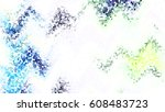 mosaic colorful pattern for... | Shutterstock . vector #608483723