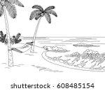 Sea Coast Hammock Graphic Blac...