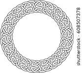 monochrome round celtic pattern....   Shutterstock .eps vector #608507378