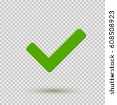 transparent green checkmark...   Shutterstock .eps vector #608508923