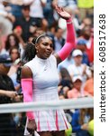 Small photo of NEW YORK - SEPTEMBER 3, 2016: Grand Slam champion Serena Williams of United States celebrates victory after her round three match at US Open 2016 at Billie Jean King National Tennis Center in New York