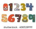 beautiful print on bold font... | Shutterstock .eps vector #608528999
