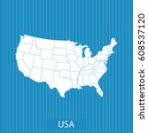 map of usa | Shutterstock .eps vector #608537120