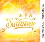 illustration summer abstract... | Shutterstock . vector #608538266
