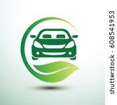 eco car concept green drive... | Shutterstock .eps vector #608541953