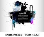 grunge poster | Shutterstock .eps vector #60854323