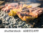 grilling meat | Shutterstock . vector #608551499