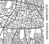 street map texture  vector | Shutterstock .eps vector #608551970