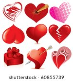 collection of detailed vector... | Shutterstock .eps vector #60855739