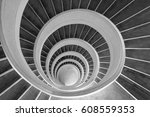 Upward Spiral  Black And White