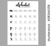 hand lettering practice...   Shutterstock .eps vector #608566358